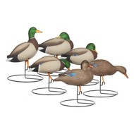 Hard Core Rugged Series TouchDown Full Body Mallard Duck Decoys 6 Pack