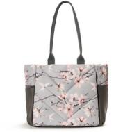 Women's Vooray Gray Cherry Blossom Aria Tote
