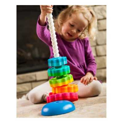 Fat Brain SpinAgain Stacking Toy
