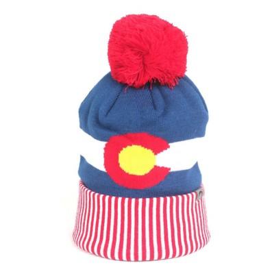 Cirque Colorado Flag Pom Beanie