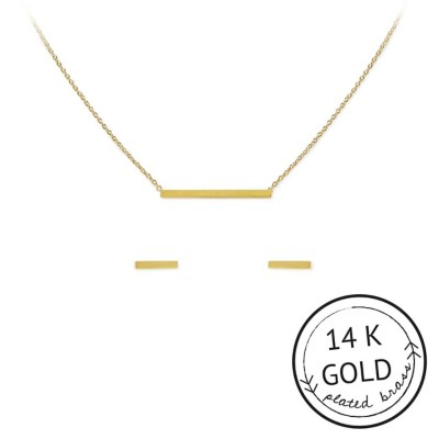 Women's Kitsch Connected Necklace & Earring Set