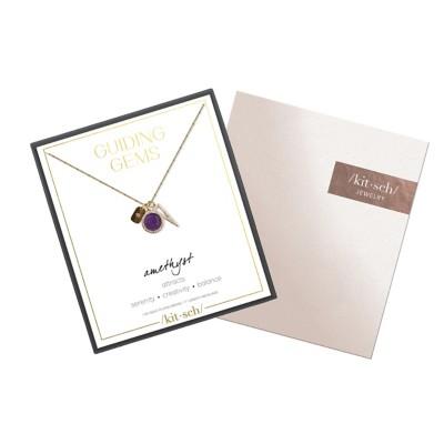Women's Kitsch Amethyst Guiding Gems Cluster Necklace