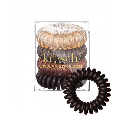 Women's Kitsch 4 Pack Brunette Hair Coils
