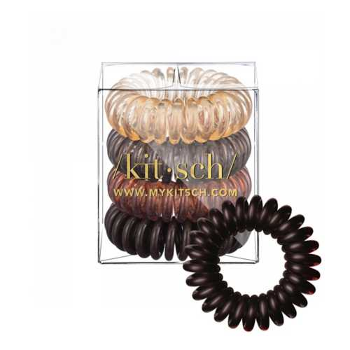Women's Kitsch 4 Pack Brunette Hair Coils