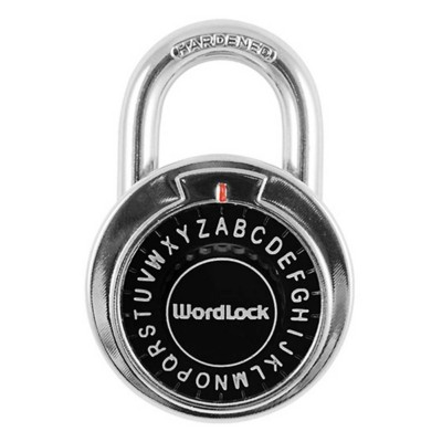Wordlock Text Combination Dial Chrome Lock
