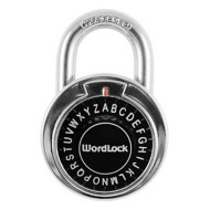 Wordlock Text Combination Dial Chrome Lock