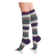 Women's Vim and Vigr Fun Stripes Compression Socks