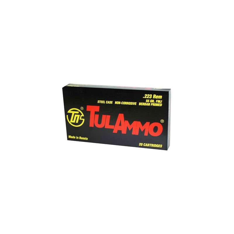 Tulammo .223 Rem Steel Case 55gr FMJ 20/box