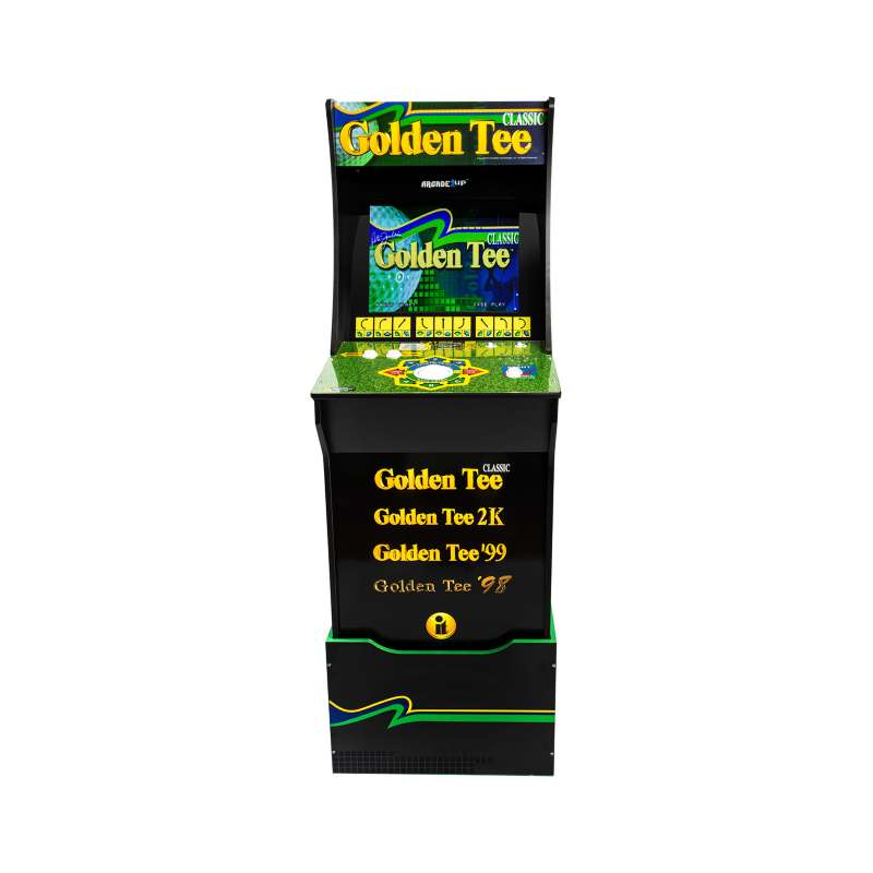 Arcade1UP Golden Tee Arcade Game with Riser
