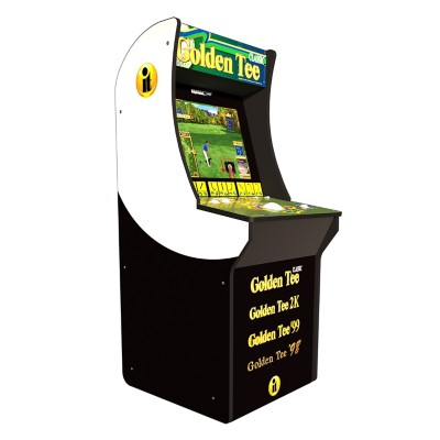 Arcade1UP Golden Tee Arcade Game with Riser