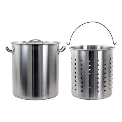 Chard 42 Quart Stainless Steel Pot with Strainer Basket