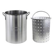 CHARD 30 Quart Aluminum Pot with Strainer Basket