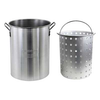 CHARD 30 Quart Aluminum Pot with Strainer Basket