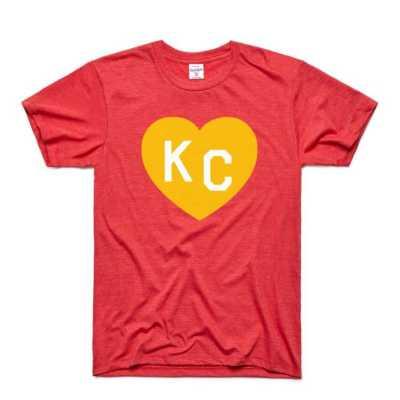 Men's Charlie Hustle KC Heart T-Shirt