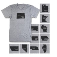 Men's Locally Grown State Short Sleeve Shirt