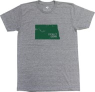 Men's Locally Grown North Dakota Solid State T-Shirt