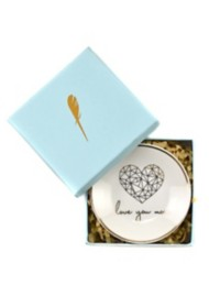 Women's Lucky Feather Heart Trinket Dish