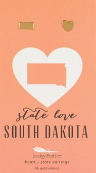 Women's Lucky Feather State Love Earrings
