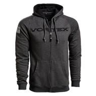 Men's Vortex Grey Zip-Up Hoodie