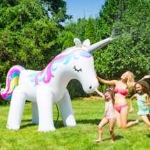 Big Mouth Ginormous Unicorn Yard Sprinkler