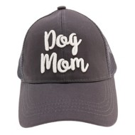 Women's C.C  Dog Mom Ponytail Trucker Hat