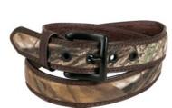 Men's AA&E Leathercraft Brass Buckle Belt