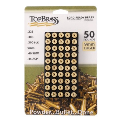 Top Brass 9mm Luger w/ Tray 50Ct