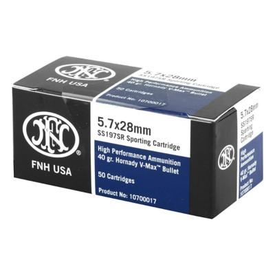 FN 5.7x28 Ammo 40gr V-MAX 50/bx