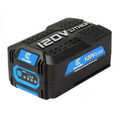 Clam 120V Lithium Ion Battery 2.0Ah - 240Wh