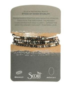 Women's Scout Curated Wears Black Netwrok Agate Bracelet