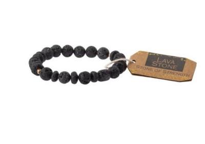 Women's Scout Curated Wears Lava Stone Bracelet