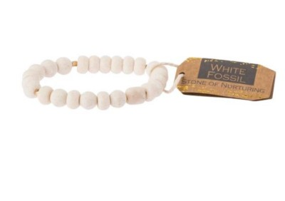 Women's Scout Curated Wears White Fossil Stone Bracelet