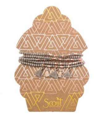 Women's Scout Curated Wears Metalic Tassel Wrap Bracelet