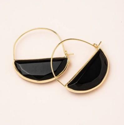 Scout Curated Wears Black Stone Prisim Hoop Earring