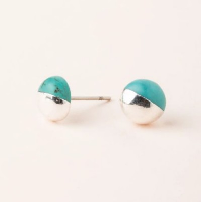 Scout Curated Wears Turquoise Dipped Stone Stud