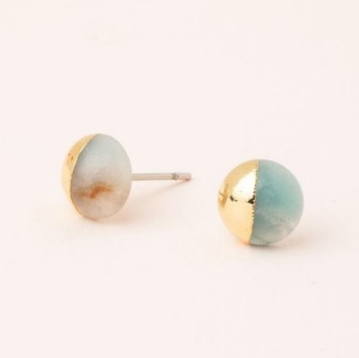 Scout Curated Wears Amazonite Dipped Stone Stud