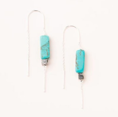 Scout Curated Wears Turquoise Rectangle Stone Earring