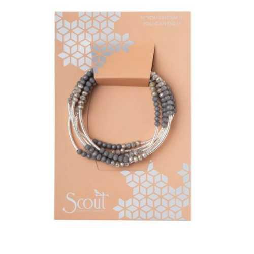 Women's Scout Curated Wears Scout Wrap : Dove Gray Bracelet