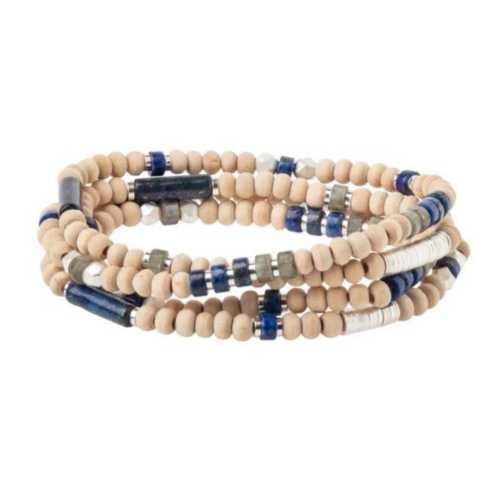 Women's Scout Curated Wears Stone Metal Wrap Bracelet