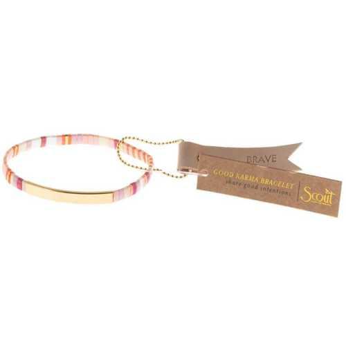 Women's Scout Curated Wears Good Karma Miyuki Bracelet | Brave - Pink Multi/Gold