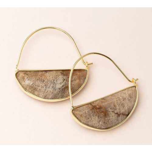 Women's Scout Curated Wears Stone Prism Hoop - Fossil Coral/Gold