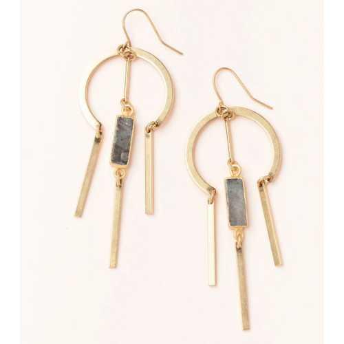 Women's Scout Curated Wears Dream Catcher Stone Earring - Labradorite/Gold