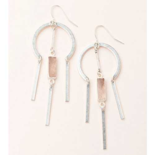 Women's Scout Curated Wears Dream Catcher Stone Earring - Rose Quartz/Silver