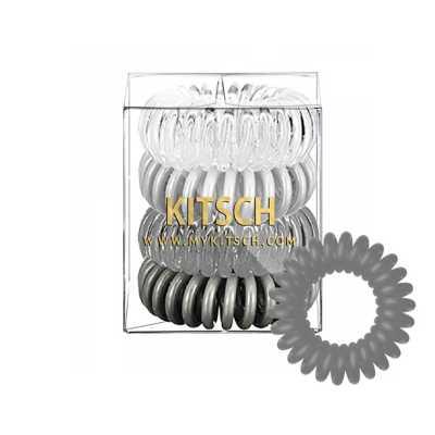 Women's Kitsch 4-Pack Greys Hair Coils