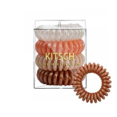 Women's Kitsch 4-Pack Blush Hair Coils