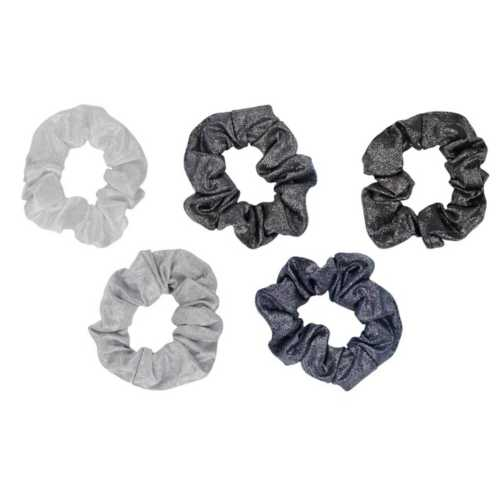 Women's Kitsch 5-Pack Gray Hair Scunchies