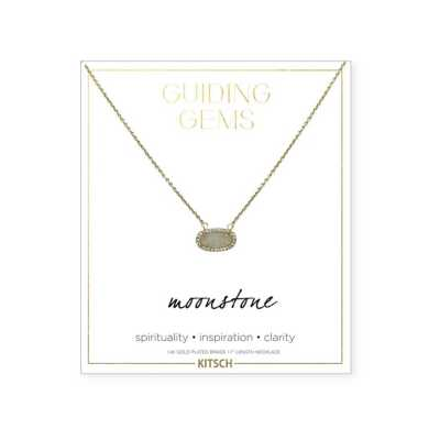 Women's Kitsch Moonstone Guiding Gems Necklace