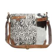 Women's Myra Hairon And Cotton Rug Shoulder Bag