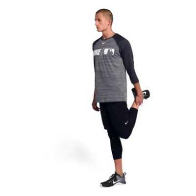 Men's Nike Dri-Fit Baseball 3/4 Sleeve Shirt