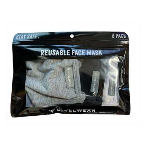 Levelwear Reusable 3 Pack Face Mask